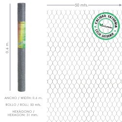 Enrejado Triple Torsion 31/  60 cm. Rollo 50 Metros Uso Domestico