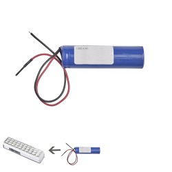 Recambio Bateria Litio Para Linterna Led Emergencia