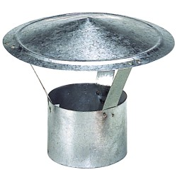 Wolfpack Sombrero Galvanizado para Estufa, Chimenea, Extracción de Humos, Para tubo Ø 120 mm.